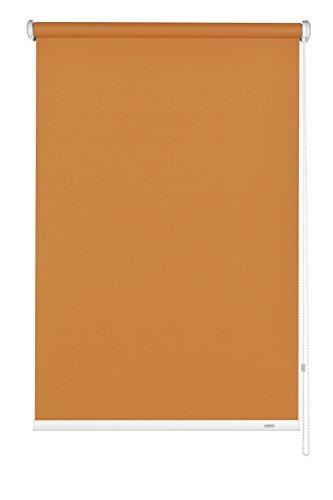 GARDINIA Seitenzug-Rollo zum Abdunkeln, Decken-, Wand- oder Nischenmontage, Lichtundurchlässig, Alle Montage-Teile inklusive, Orange, 142 x 180 cm (BxH)