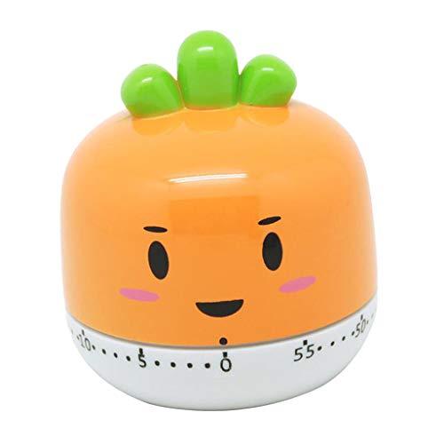 LOVIVER Obst Gemüse Form Magnetisch Küchentimer Eieruhr Küche Timer Lustig Eieruhr Geschenk für Freund - Orange