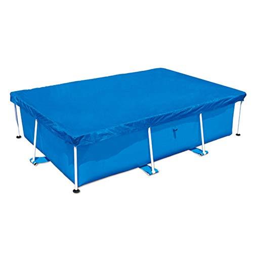 Cubierta de piscina para el verano al aire libre, rectangular, para piscinas de marco familiar, 260 x 160 cm