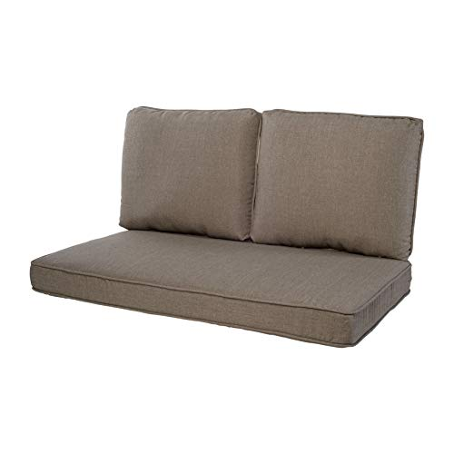 Quality Outdoor Living 29-TP46LV 29-TP02LV Loveseat Cushion, 46 x 26 3PC, Taupe