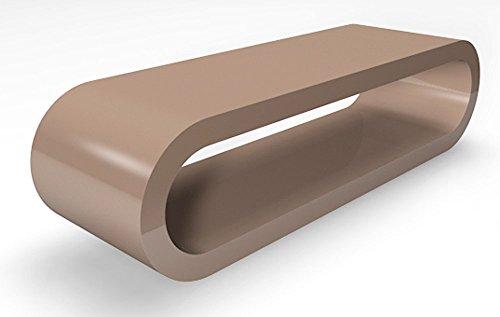 Zespoke Cerceau de Style Rétro Grand Cappuccino Brillant Largeur Table Basse/Meuble TV 110cm
