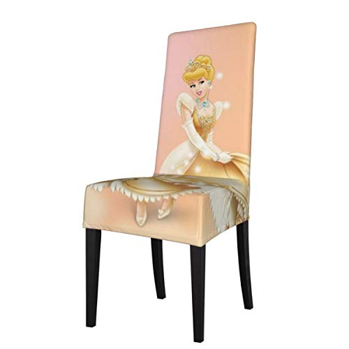 TEIJWETEIJT Anime CIN-Dere-lla Chair Cover Armless Soft Removable Washable High Elasticity Dining Chair Covers, Apply to Dining Room, Wedding, Ceremony, Banquet, Home Restaurant Decor