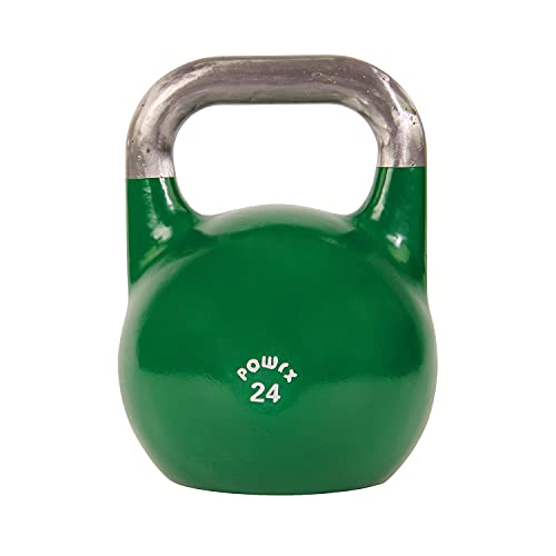 POWRX Kettlebell Professionale 4-28 kg + PDF Workout (24 kg)