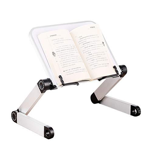 FuYouTa Einstellbarer Bücherständer Höhe Und Winkel Einstellbarer Ergonomischer Bücherhalter Ergonomischer Bücherständer Einstellbarer Höhenwinkel Buchhalter aus Aluminiumlegierung mit