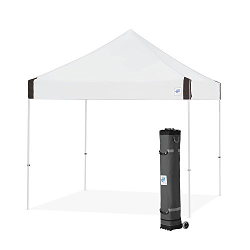 E-Z UP Vantage Instant Shelter Canopy, 10 by 10', Steel Grey