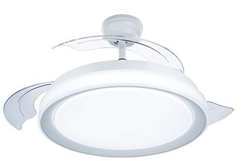 Philips Lighting Bliss Ventilador de techo con luz LED y mando, 35 W, Blanco, 106x42cm
