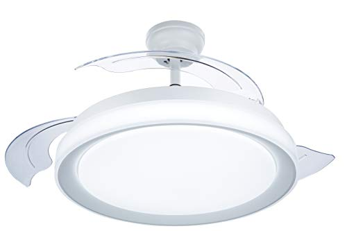 Philips Lighting Bliss Ventilador de techo con luz LED y mando, 35 W, Blanco, 106x42cm