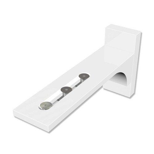 INTERDECO Wandträger (4 Stück) Weiß Wandabstand 6,5-11,5 cm für Gardinenschienen/Vorhangschienen, Variax