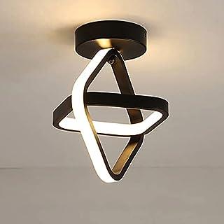 Goeco Plafonnier LED moderne, Lampe de Lustre Plafonnier de couloir carrée 22W, pour Couloir Balcon, 3000K Lumière blanche...