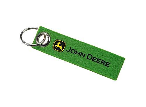 John Deere Filz-Schlüsselanhänger Grün