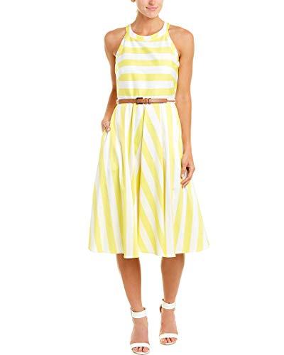 Eliza J Women's Fit and Flare Halter Dress (Regular, Petite, & Plus), Yellow, 22