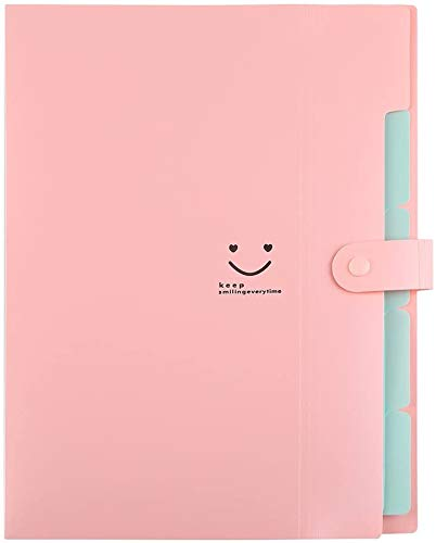 Sooez 4 Pack Expanding File Folders, Accordion Folders Plastic Folders Expanding Folders A4 Letter Size Document Organizer with File Folder Labels(Multicolored) Photo #3