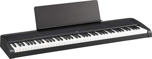 KORG B2 Digitalpiano, Keyboard, E-Piano (mit Notenpult, Dämpferpedal und Lernsoftware zum Üben zuhause), USB Midi/Audio-Anschlüsse, 88 Tasten, schwarz