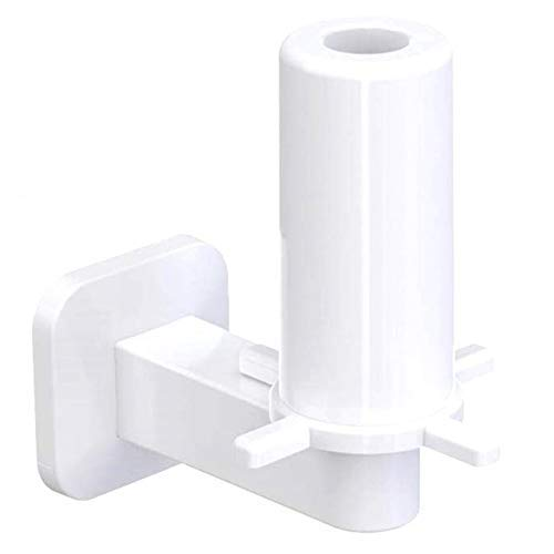 IUYJVR Toilet Paper Holder Adhesive Paper Towel Holder and Dispenser Simple Installation Without Trace Wall Mount Stainless Steel Organizer for Kitchen Gar (Color : White)