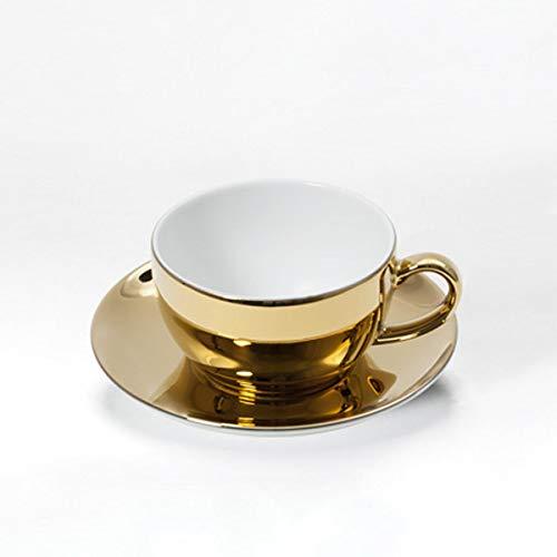 Dibbern Solid Color - Kaffeetasse 0,25 l mit Untere - Gold Edition - NEU