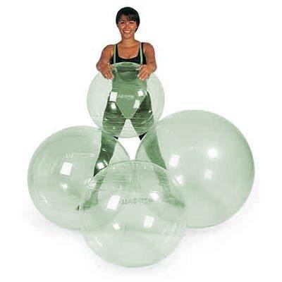 Gymnic Heim & Büro Opti Gymnastikball - Bestseller Fitnessball Transparent 65cm
