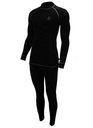 ROUGH RADICAL warme Funktionswäsche Set Shirt & Hose Ski Thermounterwäsche Rock (XL, schwarz/grau B3)