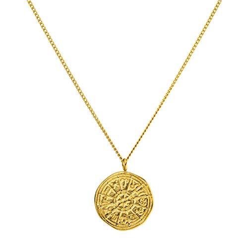 PURELEI® Zodiac Halskette (Gold, Silber & Rosegold) Mit Anhänger (40 cm Länge) (Gold)