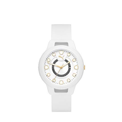 PUMA Reset - Damenuhr mit DREI Zeigern und weißem Silikon - P1011