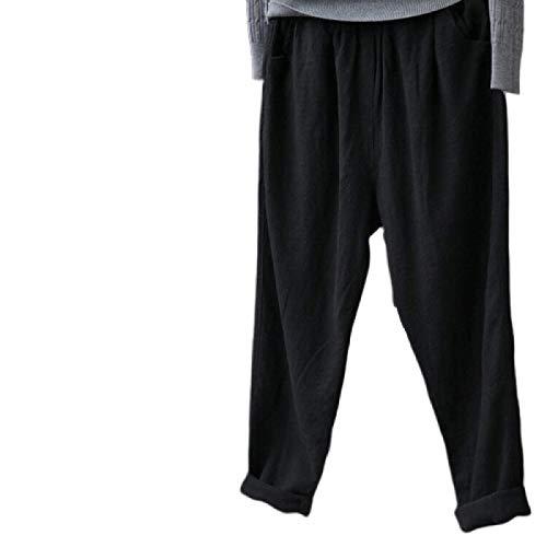 Pantalones Harem Hippie para Mujer, Cintura Alta, Cintura Fruncida, Delgada con Bolsillos, Pantalones de salón para Yoga, Playa de Verano Large