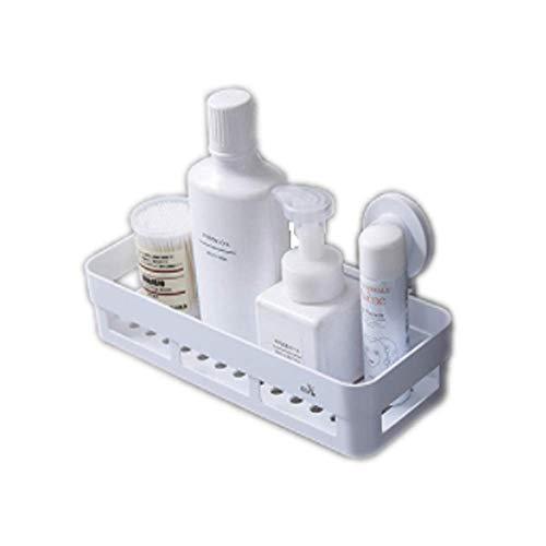 Unishop Cesta de Ducha Ventosa Carrito de Baño montado en La Pared Estante de Ducha Estante de Baño Organizador de Estantería de Baño Sin Taladrar Organizador de Plástico Extraíble