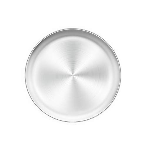 TeamFar Pizza Pan, 10 inch Pizza Pan Stainless Steel Pizza Oven Pan Tray Round Pizza Baking Pan, Healthy & Durable, Dishwasher Safe & Easy Clean