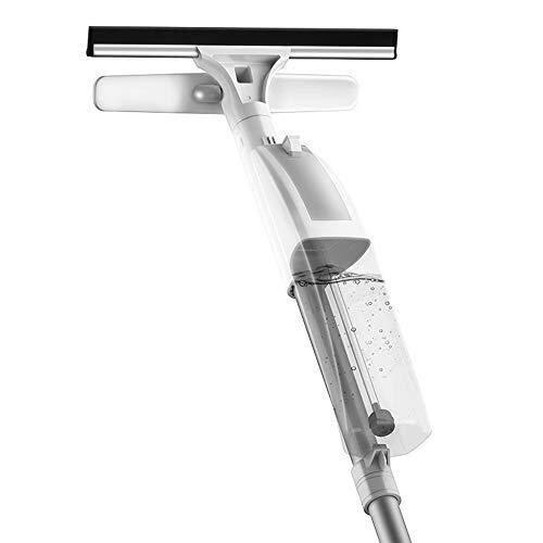 WANG-Home Douche Venster Squeegee, Dubbelzijdige High Rise Wiper Stretching Microvezel Mop Huishoudelijke Spray Raam Cleaner Voor Hardhout Vloer, Hout, Laminaat, Tegel