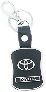 eShop24X7 Toyota Black Leather Key Chain Keychain