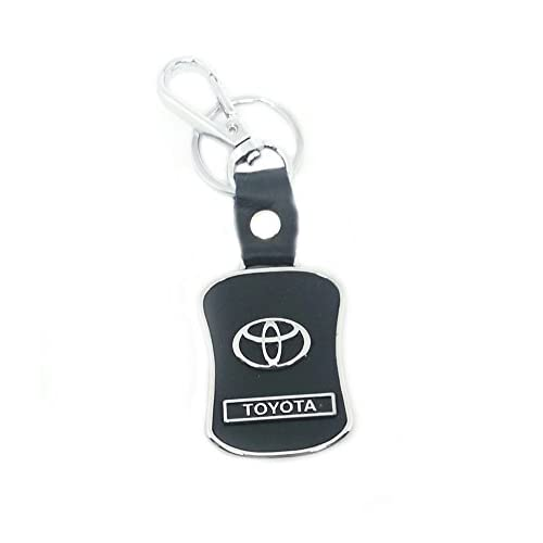 eShop24X7 Toyota Black Leather Key Chain Keychain