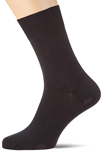 Living Crafts Damen/Herren Business Socke 2-er Pack Bio-Baumwolle/Elasthan, Black, Gr. 37/38