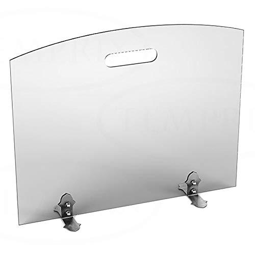 Funkenschutz Glas für Kamin Ofen | Funkenschutzglas & hitzbeständiges Schutzglas für offene Kamine und als Möbelschutz | feuerfestes Funkenschutzgitter aus ESG Sicherheitsglas