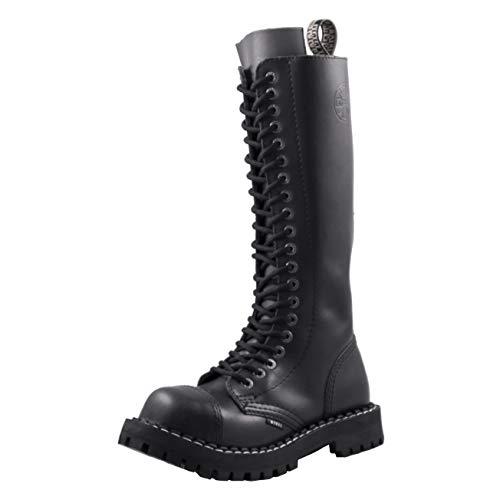 Steels 20 Loch Boots Schwarz, Grösse 42