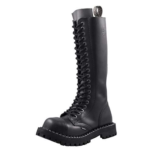 Steels 20 Loch Boots Schwarz, Grösse 48