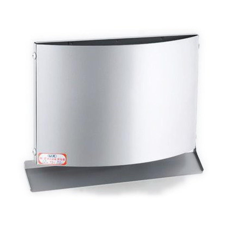 建築家天気チューインガムU.K ステンレス製 W型フード付ガラリ FDタイプ (UK-WEN100BFD-BK (06948458))