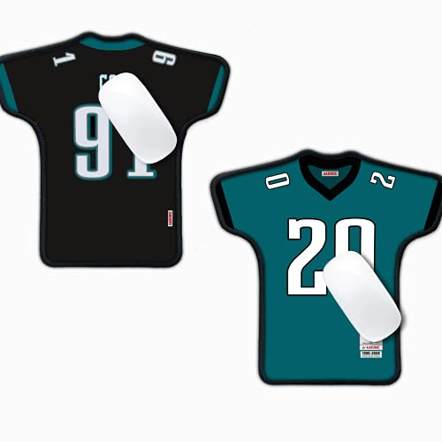Non Eagles Mouse Pad, 2 Pack Philadelphia Football Jersey Shaped Mouse Pads, for Eagles Gifts for Men, for Eagles Desk Accessories, Eagles Office Supplies, Eagles Decorations Man Cave Decor