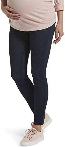 HUE Women s Ultra Soft Denim Maternity Skimmer Legging Deep Indigo Wash Extra Large product image