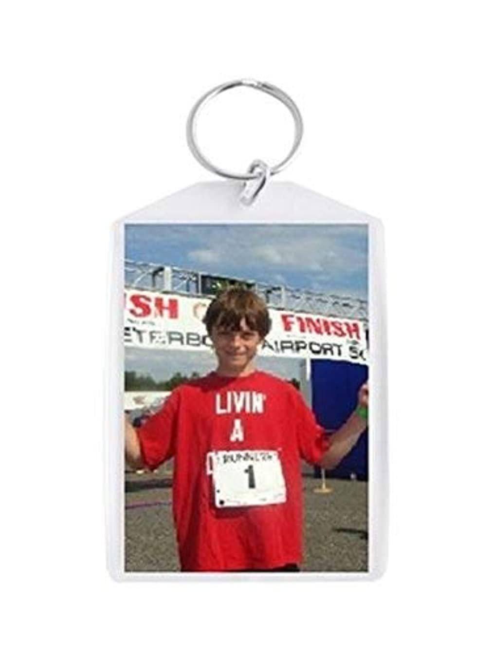 Plastic Photo Snap-in Key Chain - 2x3 (Pack of 100)