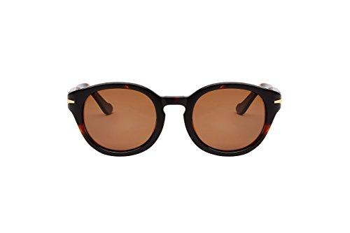 Loopies - Gafas de sol deportivas plegables (redondas), color negro