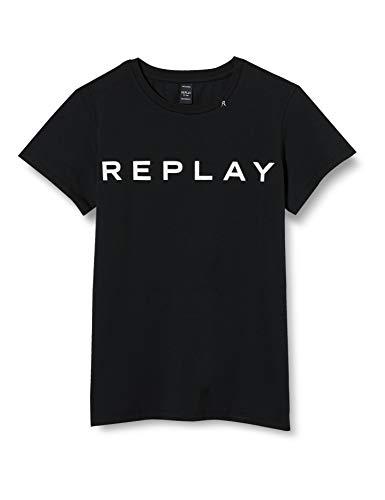 REPLAY SG7479.010.20230 T-Shirt, Nero (Blackboard 397), 140 cm Bambina
