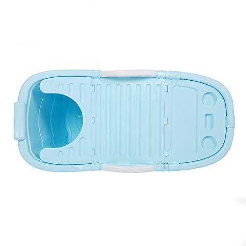 Thick Folding Bathtub Household Adult Bath Tub Children's Plastic Bath Tub Portable Outdoor Tub Travel Body Bath Tub Best Gift for Family (Color : Blue, Size : 5712064CM)