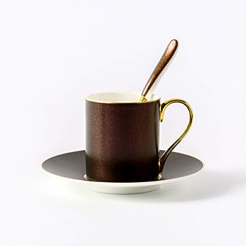 HRDZ Starry Coffee Cup and platillo Bone China Phnom Penh Coffee Cup and Platillo Inglés té de la Tarde Taza de té Rojo