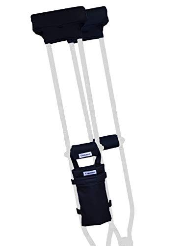 Crutcheze Crutch Pad and Bag Set - Premium USA Made Underarm Padding, Hand Grips and Bag for Crutches - Soft Padded Handles and Accessories for Adult & Youth Crutches - Storage Pockets for Travel