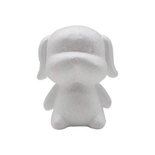 Uticon lamta1k Schaumstoff-Tier-Modell, handgefertigt, DIY-Schaumstoff für Hunde, Kaninchen, Modellierung, Kunstperlen, Geschenk, Schreibtischdekoration – Hund #