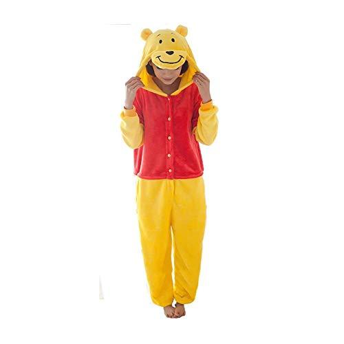 Mcdslrgo Unisex Tier-Loungewear Onesie Schlafanzug Schlafanzug Schlafanzug Kostüm Cosplay Homewear Gr. Medium, Winnie Pooh