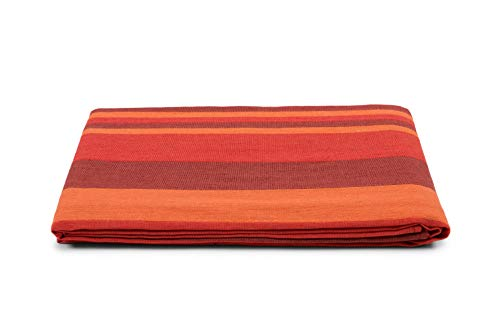 HomeLife Colcha para cama de matrimonio primaveral y verano Maxi [260 x 260 cm] Made in Italy | Colcha matrimonial de algodón jacquard a rayas | Sábana bajera ligera | 2 plazas burdeos