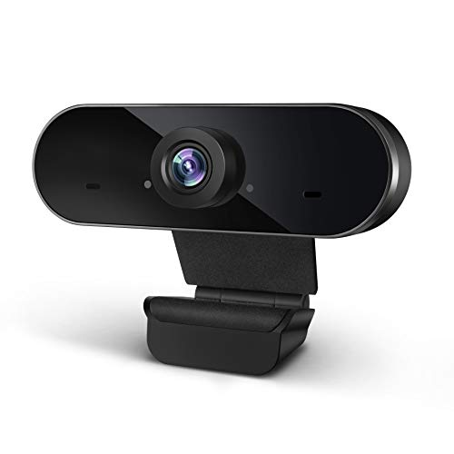 Webcam with Microphone, 1080P Full HD Portable PC Webcam, Plug & Play Streaming USB Computer Camera for Mac/PC/Laptop,Video Call/Online Teaching/Live Streaming/Video Conference,Zoom/Skype/YouTube