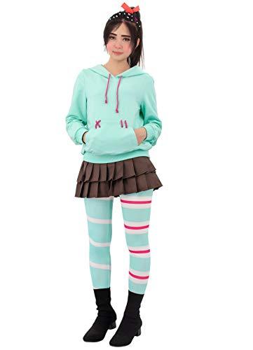 C-ZOFEK Vanelope Von Schweetz Cosplay Costume For Sweet Girls (Large)