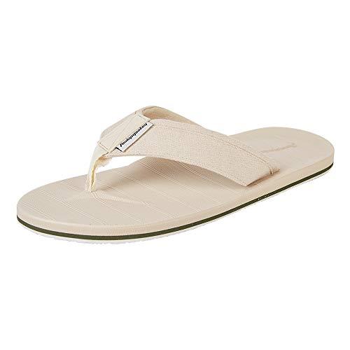 HEVA Chanclas para Hombre Piscina Sandalias Flip-Flop(42EU Amarillo Beige)