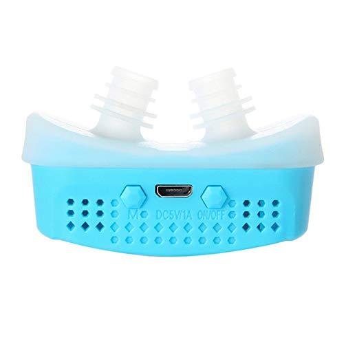 Iswell Electric Silicona Antirronquidos Nariz Aparato respiratorio Aparato de protección Dispositivo para roncar con ayuda para dormir Aliviar el ronquido Salidas de ventilación Filtro de aire