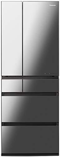 パナソニック IoT対応 冷蔵庫 6ドア 600L フレンチドア ストックマネージャー機能搭載 オニキスミラー NR-F...